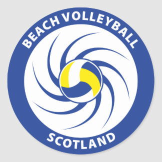 Beach Volleyball Scotland Classic Round Sticker