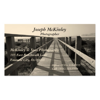 Beach Walk in Sepia Pack Of Standard Business Cards