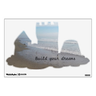 Beach Wall Decal: Build Your Dreams Sandcastle Wall Sticker