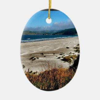Beach Watch Ceramic Ornament