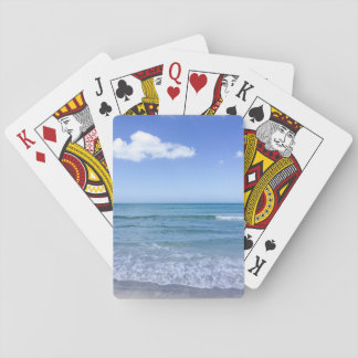 Beach Water Blue Sky White Clouds Background Ocean Poker Deck