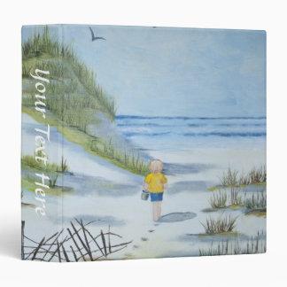 Beach watercolor 3 ring binder