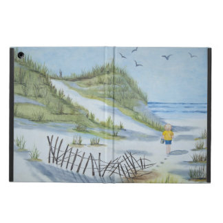 Beach watercolor iPad air cover