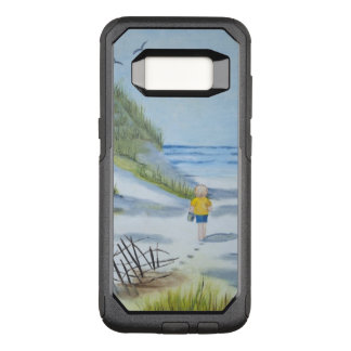 Beach watercolor OtterBox commuter samsung galaxy s8 case
