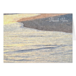 Beach Watercolor Thank You Note Card