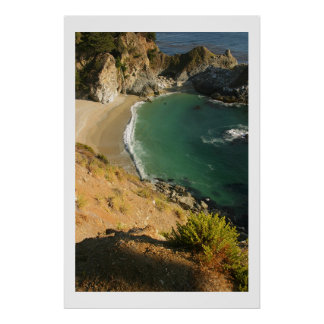 Beach Waterfall at Julia Pfieffer Poster