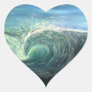 beach wave,green room,rip curl heart sticker