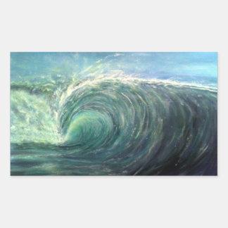 beach wave,green room,rip curl sticker