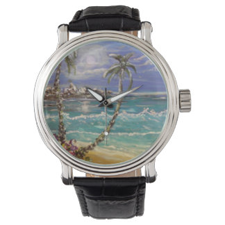 Beach wave wrist watch