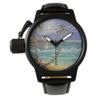 Beach wave wristwatch
