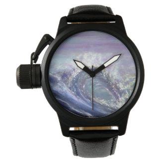 Beach wave wristwatch