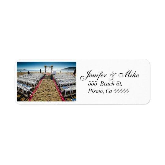 beach wedding address lables