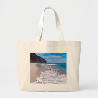 Beach Wedding Backdrop Ocean Shoreline Photo Large Tote Bag
