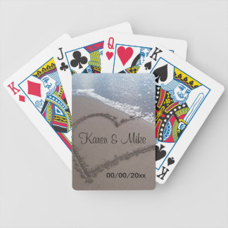 Beach Wedding Bicycle Playing Cards