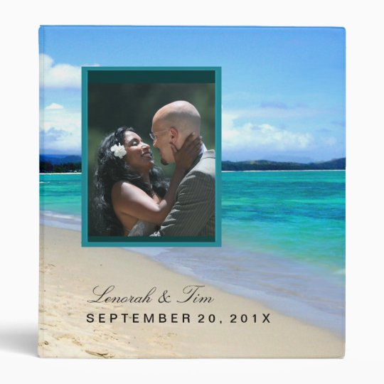 Beach wedding binder