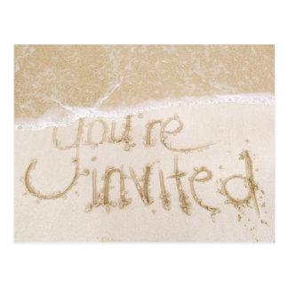 Beach Wedding Bridal Shower Invitation--Sand & Sea Postcard