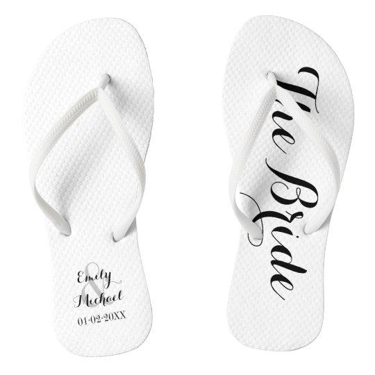 c8c52897c193 Beach Wedding Bride Flip Flops