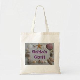 Beach Wedding/Bride's Stuff Tote Bag
