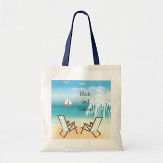 Beach Wedding Customizable Tote Bag