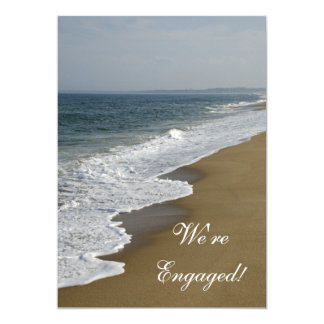 Beach Wedding Engagement Party Invitation