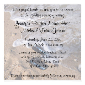Beach Wedding Flip Flop Sandals Custom Announcements