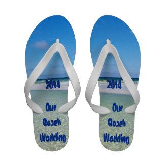 Beach Wedding Flip-Flops
