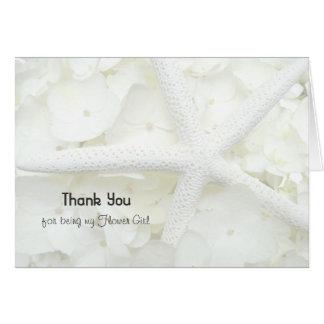 Beach Wedding Flower Girl Thank You Note Card