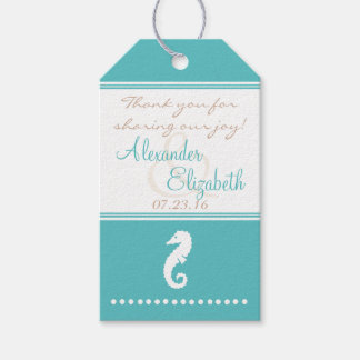 Beach Wedding Guest Favor Thank You Gift Tags