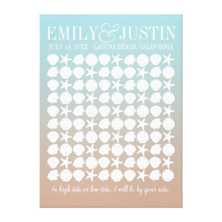 Beach Wedding Guestbook Custom Wrapped Canvas