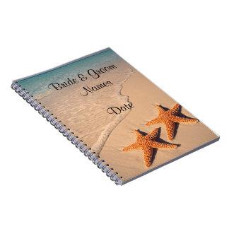 Beach Wedding Guestbook Notebook