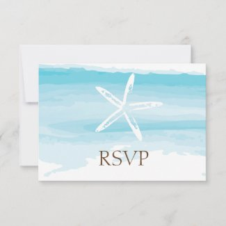 Beach Wedding ı RSVP Card