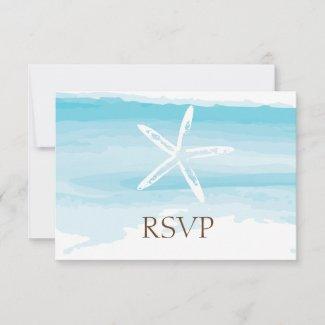 Beach Wedding ı RSVP Card