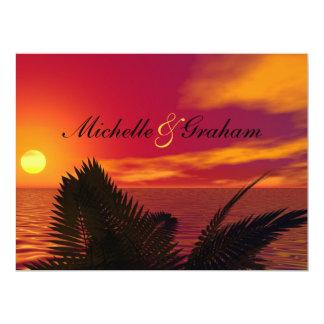 "Beach Wedding Invitation at Sunrise 6.5"" X 8.75"" Invitation Card"