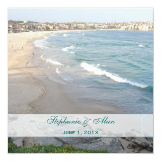 Beach Wedding Invitation Square