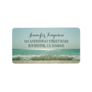 Beach Wedding Label