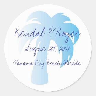 Beach Wedding Labels