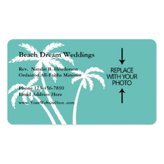 Beach Wedding Minister Business Card