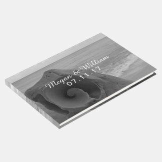 Beach Wedding | Modern Black & White Nautical Guest Book