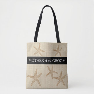 Beach wedding Mother of groom sand burlap Tote Bag