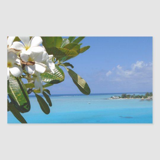 Beach Wedding Ocean Tahiti Flowers Sticker