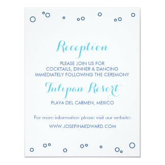 "Beach Wedding Ocean Waves Reception Card 4.25"" X 5.5"" Invitation Card"
