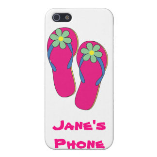 Beach Wedding Phone Cases: Flip Flop Design iPhone 5/5S Cases