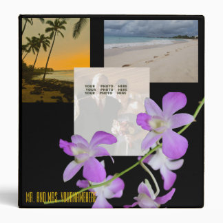Beach Wedding Photo Album Vinyl Binder