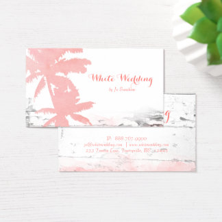 Beach Wedding Planner Tanning Coral Palm Trees Business Card