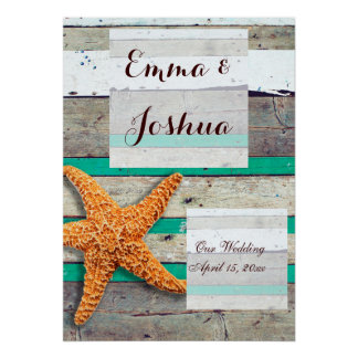 Beach Wedding Poster Reception Decoration