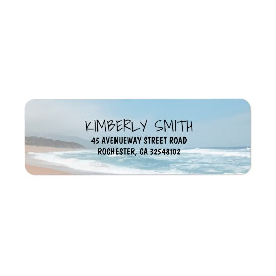 Beach Wedding Return Address Label