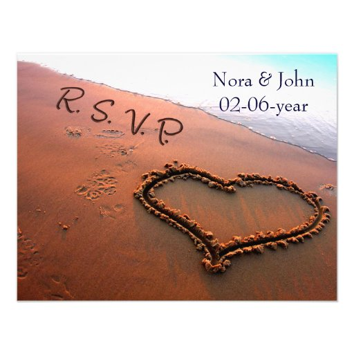 beach wedding RSVP Personalized Announcements