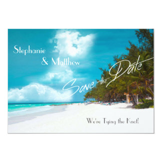 "Beach Wedding Save the Date 5"" X 7"" Invitation Card"