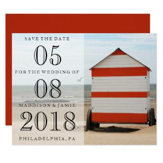 Beach Wedding Save the Date Card