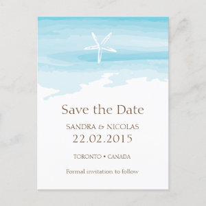 Beach Wedding Save the date ı Postcard